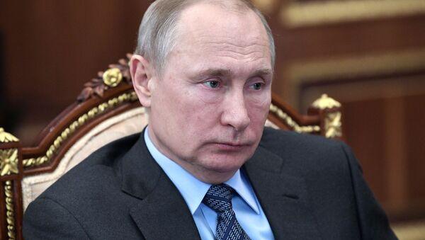 Президент РФ В. Путин встретился с главой Газпрома А. Миллером - Sputnik Абхазия