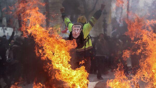 Акция протестов желтых жилетов в Париже,16 марта 2019 - Sputnik Абхазия