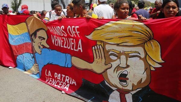 Акция в поддержку Н.Мадуро в Венесуэле - Sputnik Абхазия