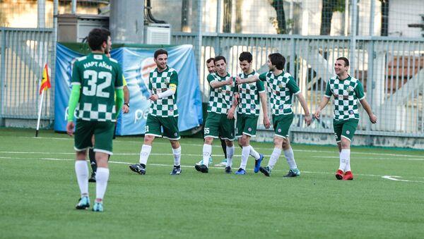 Матч сухумского Нарта и команды Афон в рамках чемпионата Абхазии по футболу на стадионе Динамо в Сухуме - Sputnik Абхазия