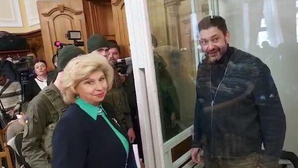 Встреча Кирилла Вышинского и Татьяны Москальковой перед заседанием суда - Sputnik Абхазия