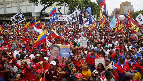 Акция в поддержку Н.Мадуро в Венесуэле - Sputnik Аҧсны
