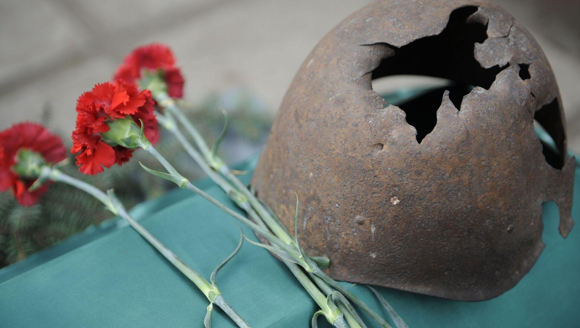 Передача РФ останков военнослужащего, погибшего в 1943 году в ходе боев за Славянск - Sputnik Аҧсны, 1920, 30.04.2021