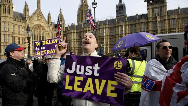 Акция противников и сторонников Brexit в Лондоне - Sputnik Абхазия