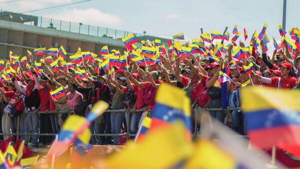 Акция в поддержку президента Венесуэлы Николаса Мадуро. Архивное фото - Sputnik Абхазия