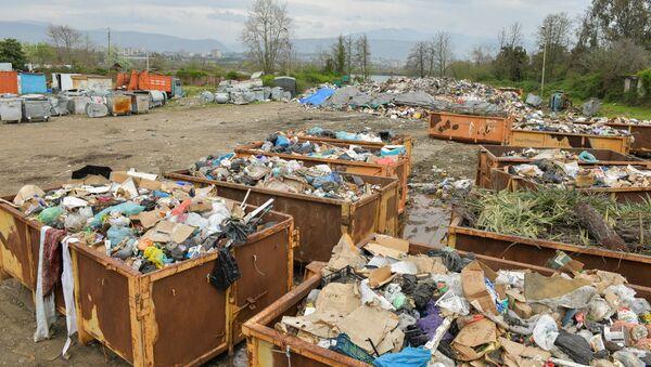 Из-за того, что протестующие закрыли въезд на свалку, городской мусор с 4 апреля стали складировать на территории Спецавтохозяйства - Sputnik Абхазия