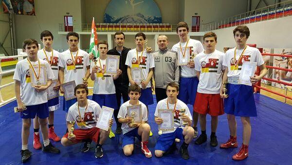 Вечер международного профессионального бокса Кубок государства Алания в Цхинвале  - Sputnik Абхазия