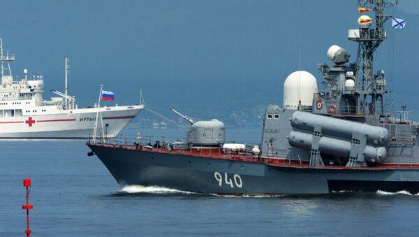Репетиция военно-спортивного праздника, посвященного Дню ВМФ России, во Владивостоке - Sputnik Абхазия
