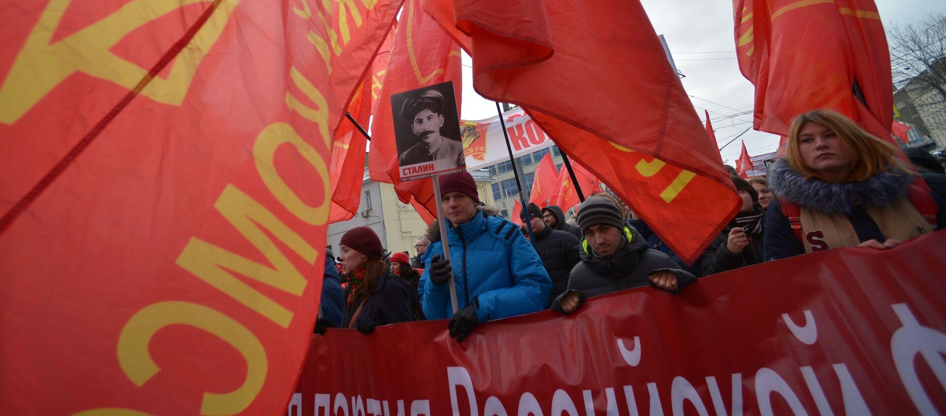 Шествие и митинг, посвященные 98-й годовщине Советской Армии и ВМФ - Sputnik Абхазия, 1920, 05.03.2021