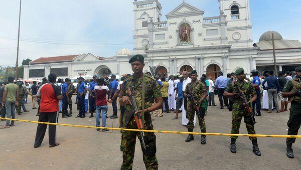Полиция Шри-Ланки на месте взрыва, 21 апреля 2019 - Sputnik Абхазия
