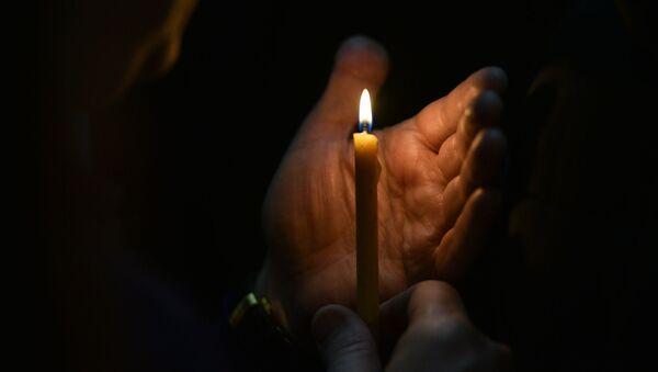 Празднование пасхи в Сухумском кафедральном Соборе Благовещения Пресвятой Богородицы - Sputnik Абхазия