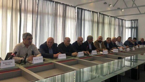 Съезд блока оппозиционных сил Абхазии - Sputnik Абхазия
