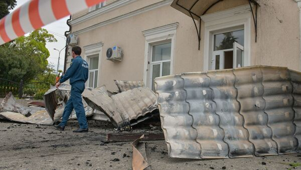 Последствия пожара в сухумской школе №2 - Sputnik Аҧсны
