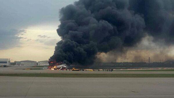 Пожар на борту самолета в Шереметьево - Sputnik Абхазия