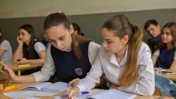 Первый день учебы учеников 2 школы - Sputnik Аҧсны