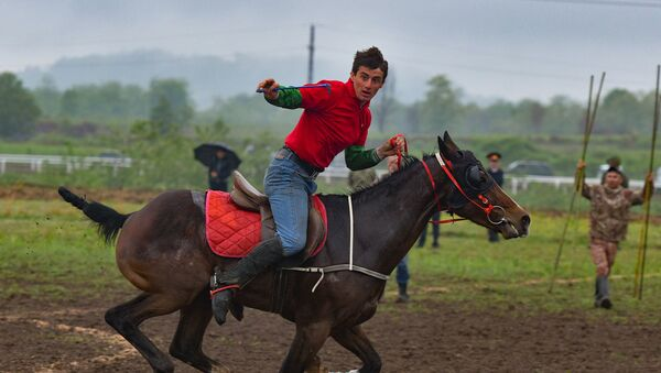 Скачки в селе Дурипш - Sputnik Абхазия