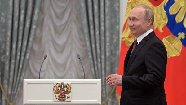 Президент РФ В. Путин вручил медали Герой Труда Российской Федерации - Sputnik Абхазия