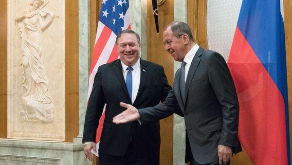 Встреча главы МИД РФ С. Лаврова с госсекретарем США М. Помпео - Sputnik Абхазия