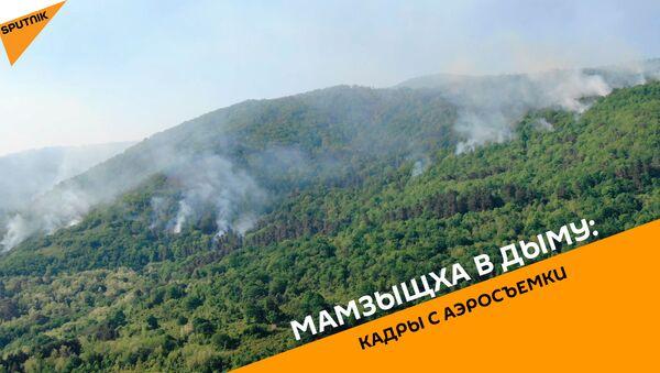 Мамзыщха в дыму: кадры с аэросъемки - Sputnik Абхазия