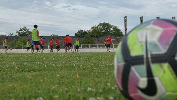 Тренировка сборной Абхазии по футболу  - Sputnik Абхазия