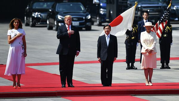 Президент США Дональд Трамп и новый император Японии Нарухито в Токио. 27 мая 2019 - Sputnik Абхазия