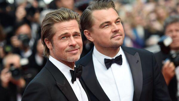 Актеры Брэд Питт и Леонардо ди Каприо на красной дорожке 72-го Каннского кинофестиваля - Sputnik Абхазия