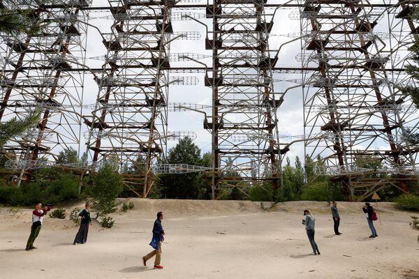 Советская загоризонтная радиолокационная станция Дуга у Чернобыльской АЭС  - Sputnik Абхазия