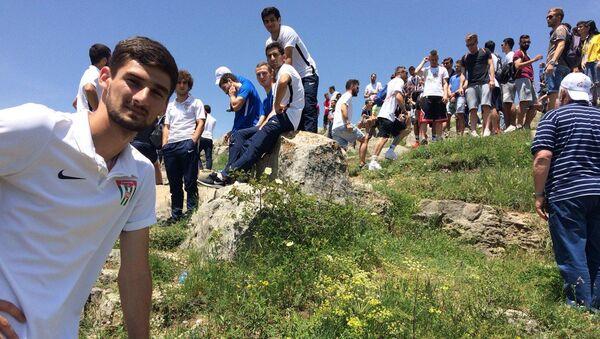 Игроки сборной Абхазии по футболу побывали в древнем городе Нагорного Карабаха – Шуши - Sputnik Абхазия