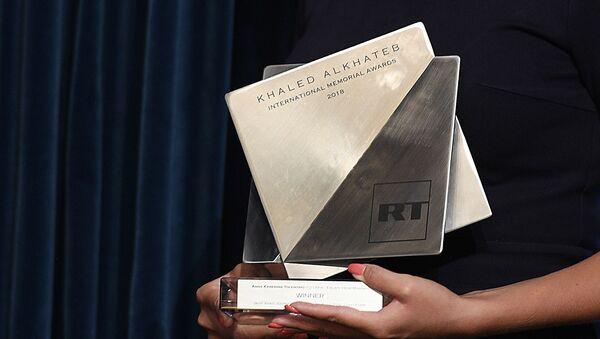 Вручение Международной премии в память о журналисте Халеде аль-Хатыбе - Sputnik Абхазия
