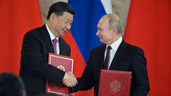Мероприятия с участием президента РФ В. Путина в рамках государственного визита в РФ председателя КНР Си Цзиньпина - Sputnik Абхазия