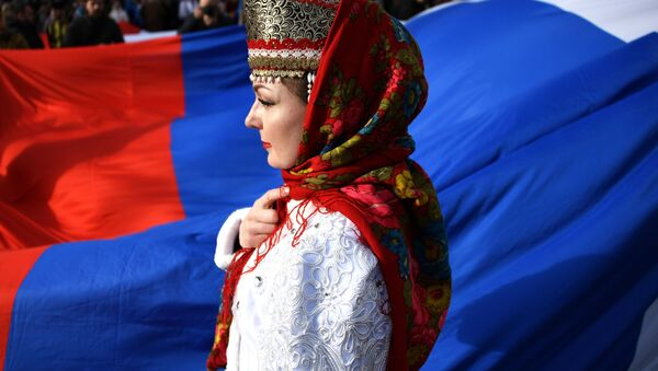 Празднование 5-й годовщины воссоединения Крыма с Россией - Sputnik Абхазия
