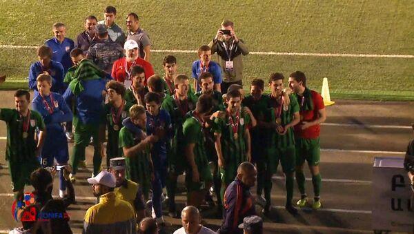 Сборная Абхазии после матча со сборной Чамерии - Sputnik Абхазия