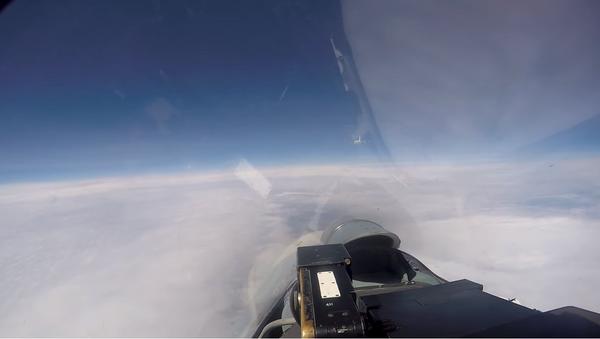 Перехват самолетов-разведчиков НАТО российским Су-27 над Балтийским морем - Sputnik Абхазия