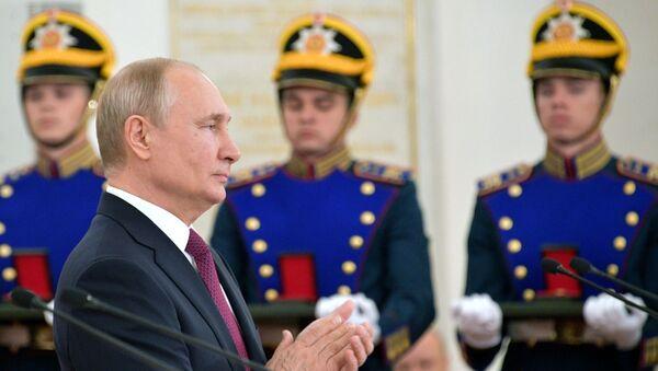 Президент РФ В. Путин вручил Госпремии в Кремле - Sputnik Абхазия