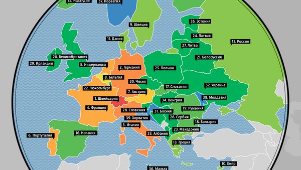 Золотой запас стран Европы на душу населения  - Sputnik Абхазия