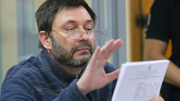 Заседание суда по делу журналиста К. Вышинского в Киеве - Sputnik Аҧсны