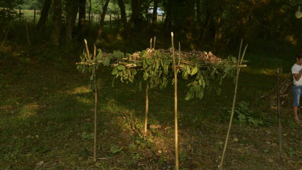 Фамильное моление Лейбавцев в селе Мгудзырхуа - Sputnik Аҧсны