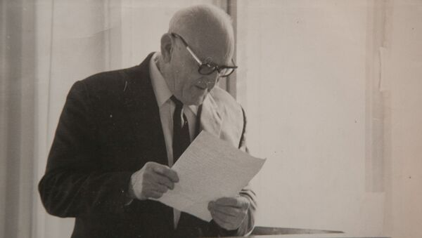 Аԥсуа филологиа апатриарх, абызшәадырҩы Константин Семион-иԥа Шьаҟрыл - Sputnik Аҧсны