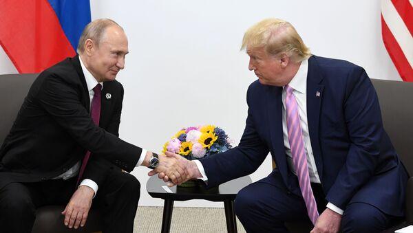 Владимир Путини Дональд Трампи  - Sputnik Аҧсны
