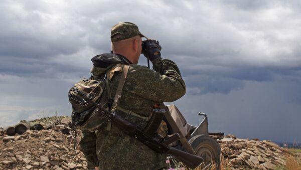 Военнослужащий Народной милиции ЛНР - Sputnik Абхазия