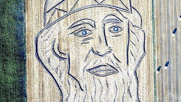 В Италии нарисовали трактором портрет крестителя Руси к визиту Путина - Sputnik Абхазия