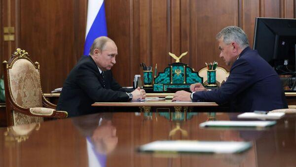 Президент РФ В. Путин встретился с министром обороны РФ С. Шойгу - Sputnik Абхазия