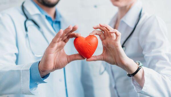 Доктора держат резиновое сердце  - Sputnik Абхазия
