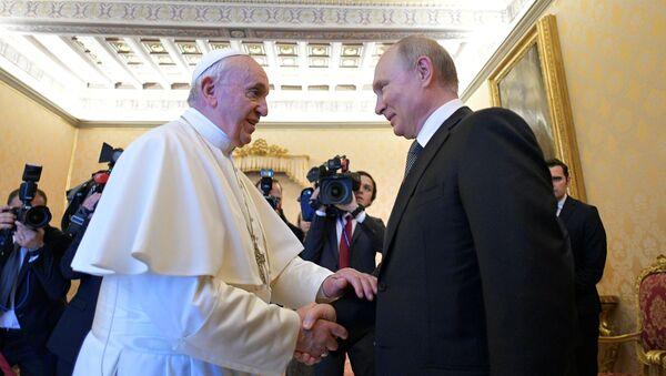 Официальный визит президента РФ В. Путина в Италию - Sputnik Абхазия