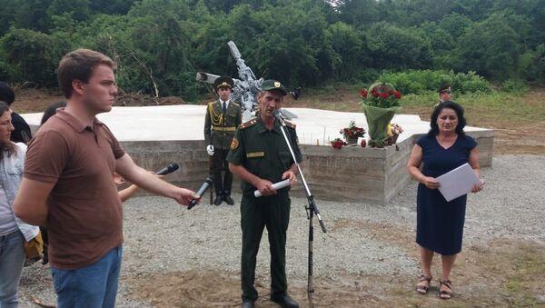 Открытие памятника погибшим в Июльской операции на горе Ахбюк  - Sputnik Абхазия