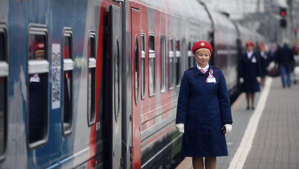 Отправление поезда Россия Москва – Владивосток - Sputnik Абхазия