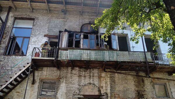 Последствие пожара в одной из подсобок абхазского театра - Sputnik Абхазия