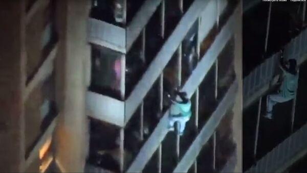 Побег из ада: история спасения из горящего здания - Sputnik Абхазия
