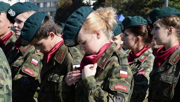 Кадеты во время мемориальный мероприятий в Варшаве  - Sputnik Абхазия