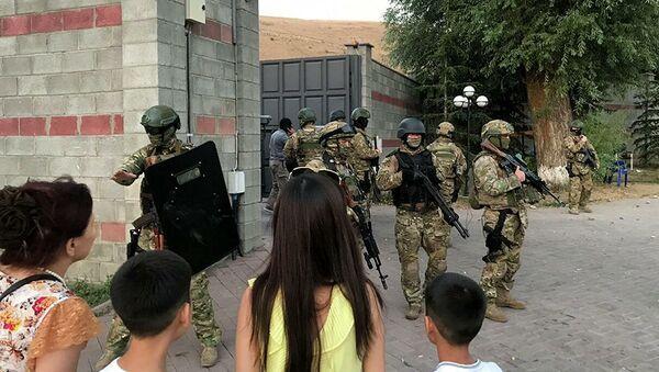 Киргизский спецназ в резиденции Атамбаева в селе Кой-Таш - Sputnik Абхазия